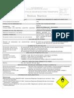 MSDS - Residuos reactivos