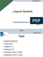 MetNum6-Integrasi Numerik
