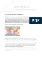 Introduction to Plate Boundaries
