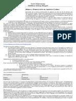 3-B. Resumen. Mainwaring - Presidencialismo y Democracia en America Latina