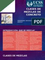 Clases de Mezclas de Concreto