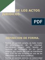 Forma de los actos juridicos