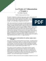Le Gras, Les Fruits et l'Alimentation « Vivante ».doc