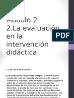 M23 La Evaluación en La Interv Didac