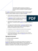 Tipología Documental