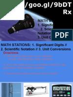 unit 2  math stations  sig digits sci notation unit conversion