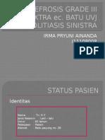case repot uretrolitiasis