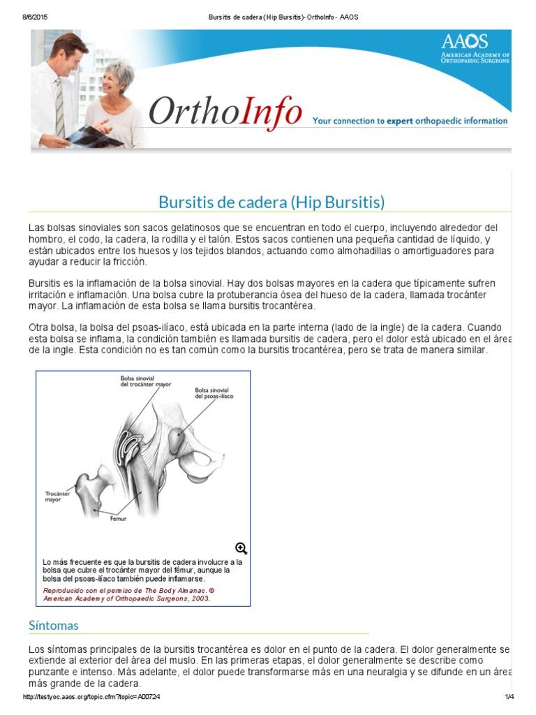 Bursitis de Cadera (Hip Bursitis)-OrthoInfo - AAOS