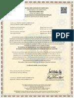 certificado negativo de antecedentes penales