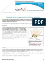 Síndrome Del Túnel Carpiano (Carpal Tunnel Syndrome)-OrthoInfo - AAOS