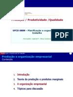 Producao e Organizacao Empresarial