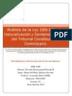 Análisis de La Ley 169-14