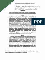 Estudio Evaluativo Del Programa de Instruccion y Entrenamiento
