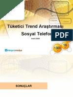 Tüketici Trend Araştırması Sosyal Telefon