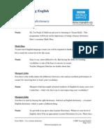 ES 2a Using a Learner Dictionary Transcript