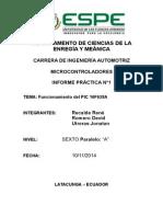 Informe 1 - Funcionamiento Pic16f628a