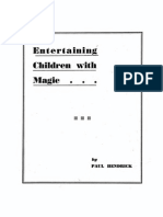 Entertaining Children With Magic