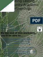 creating lasting community-academic partnerships