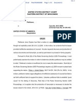 Clayton v. United States of America - Document No. 2