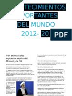 principales acontecimientos 2012-2013