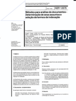NBR 12676 DeterminaçãoAssuntosSeleçãoTermosDeIndexação