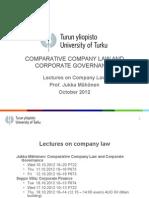 Mahonen Company Law Autum 2012