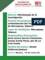 La Contaminacion Del Rio Puxcatan Macuspana Tabasco