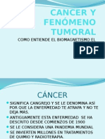 Cancer y Fenómeno Tumoral