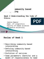 TRAN826 Week 2 Understanding the Code of Ethics7-2