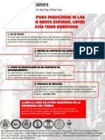 Tenants- Know Your Rights Flyer- SPANISH