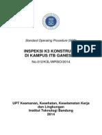 SOP Inspeksi K3 Konstruksi 2014