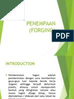 Pembentukan Penempaan (Forging)