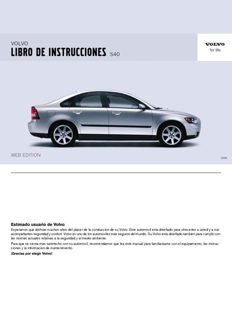 manual de instrucciones volvo s40 2002