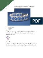 Como Hacer Pulseras Con Diamantes Artificiales