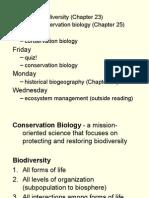 19 - Conservation Biology