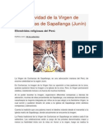 Festividad de La Virgen de Cocharcas de Sapallanga