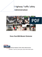 NHTSA Budget Highlights FY2015