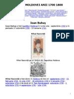 Domnii Moldovei Anii 1700 1800