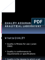 Quality Assurance in Analytical Laboratory
