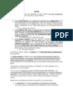 6) CAUSA DE LOS CONTRATOS