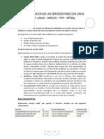 Laboratorio de Implementacion de Un Servidor Web Con Linux