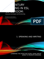 21st Century Learning in Esl Classroom