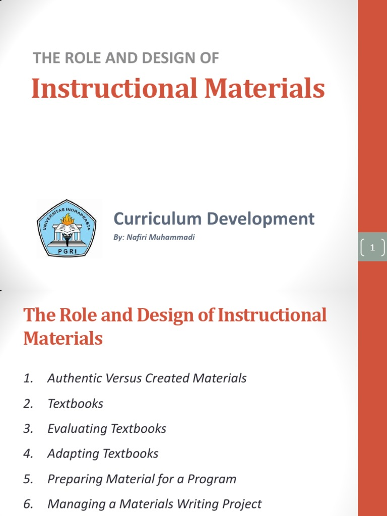 The Role And Design Of Instructional Materials Textbook Language Education