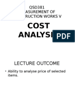 Qsd381 - Cost Analysis
