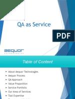 Aequor Technologies - QA as Service