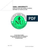 Curriculum Guide Agriculture Department