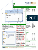 Excel Quick Reference 2007