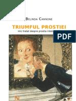 Belinda Cannone -Triumful Prostiei (Mic Tratat Despre Prostia Inteligentei)