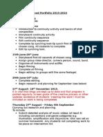A2 Coursework Schedule 2015-2016