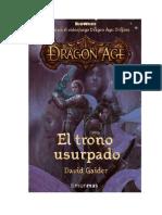 Dragon Age El Trono Usurpado